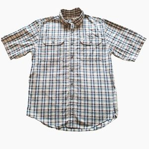 Carhartt Plaid Button Down Short Sleeve Shirt
